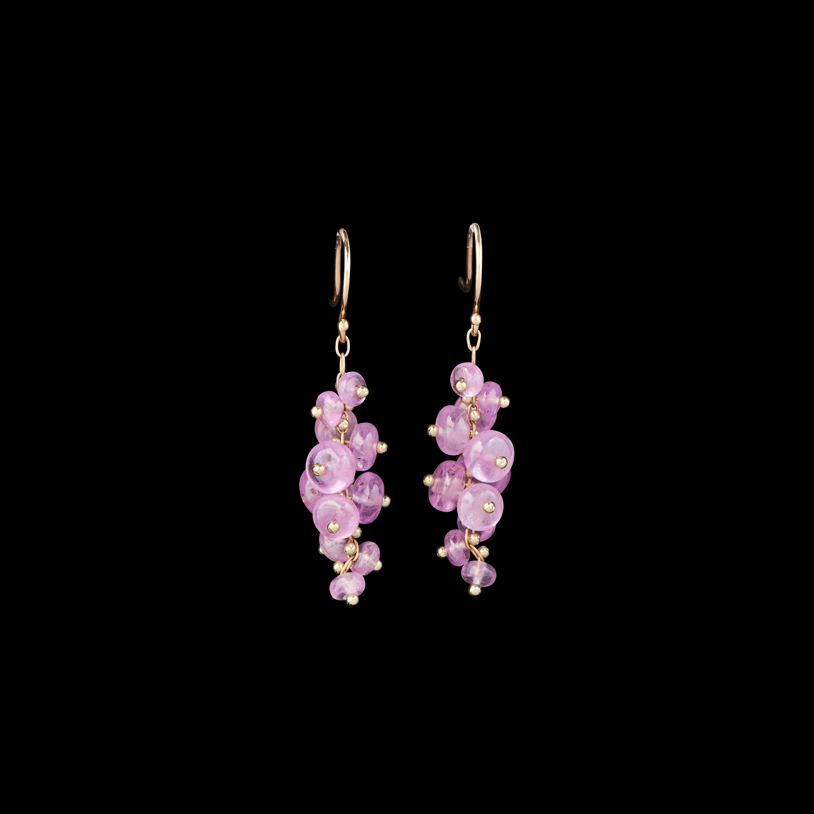 Signature Short Spiral Beaded Earrings