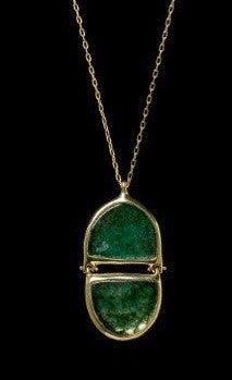 Emerald Double Pendant