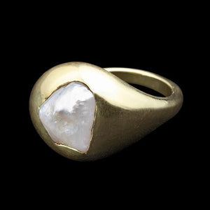 American Natural Pearl Pinkie Ring