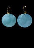 Aquamarine Turtle Shell Earring