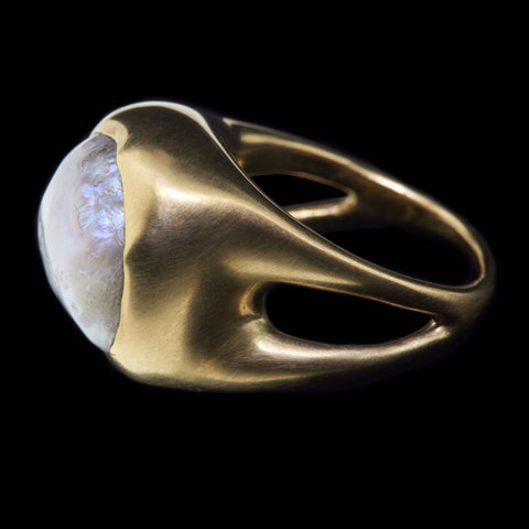 American Natural Pearl Double Shank Ring