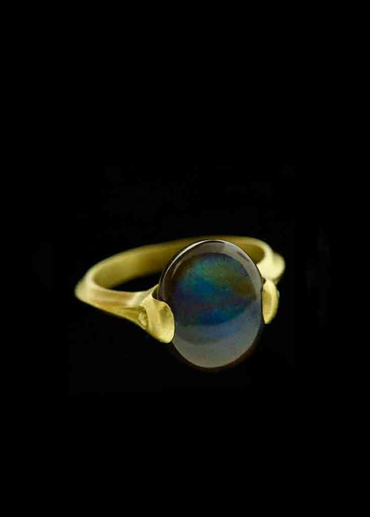 Labradorite Bead Ring