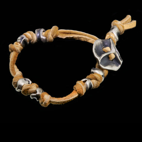 knotted double spaced totem bracelet