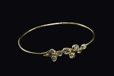 molten cluster diamond bangle