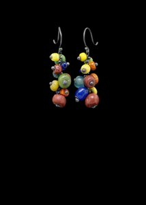 Beaded Ancient Bead Earrings