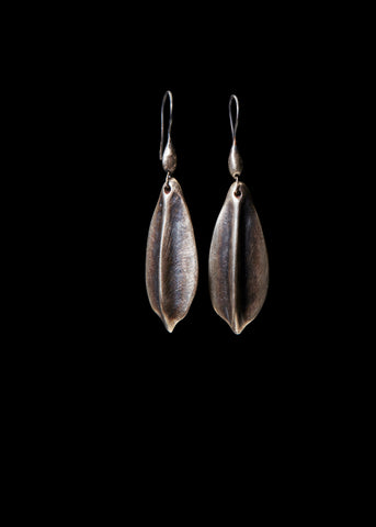 Carved Leaf Earrings