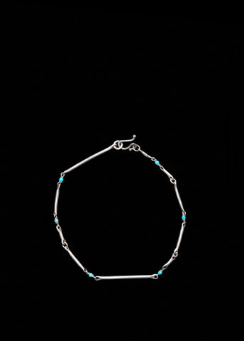 Cast Line Bracelet with Turquoise
