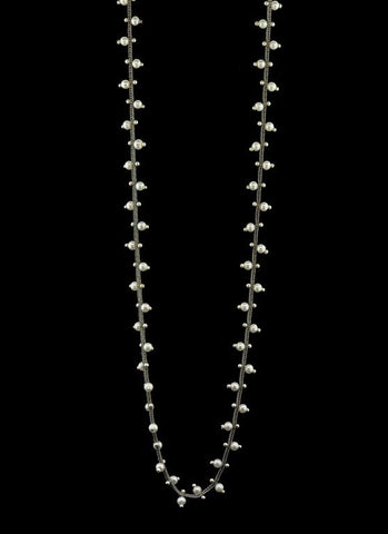 Double Studded Woven Chain Necklace