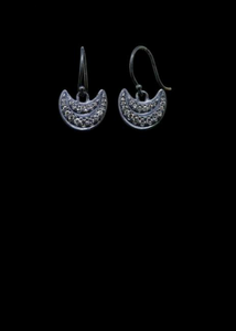 Diamond Pave Double Crescent Earring