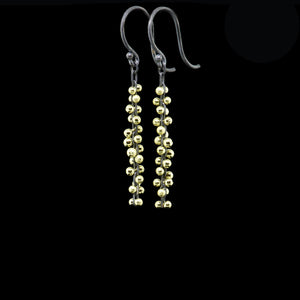 signature beaded short cluster earrings