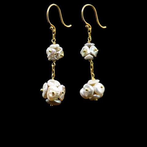 biwa pearl large and small boxes earring