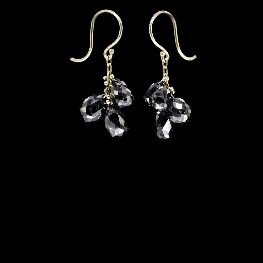 briolette cluster drop earrings