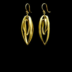 double cage earring