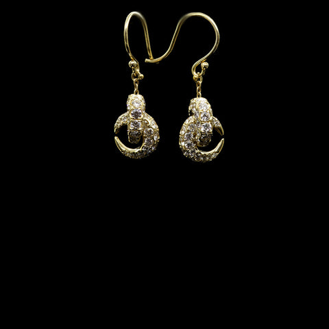 diamond pave knots earring
