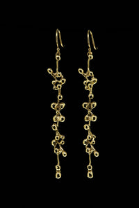 molten cluster long earring