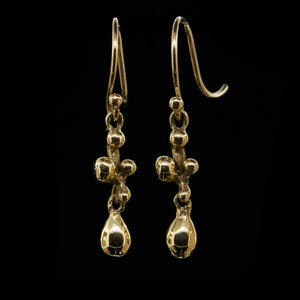 molten cluster drop earrings