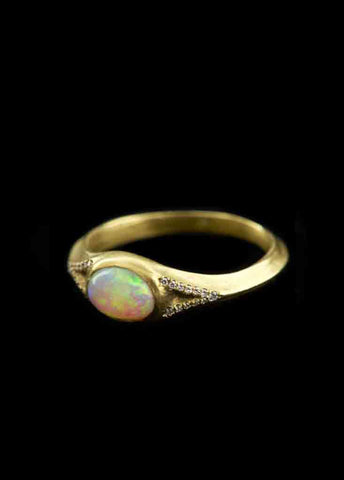 Eye Ring With Opal And Diamonds
