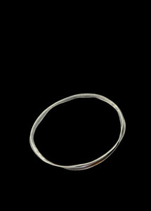 Inverted Crinkle Bangle
