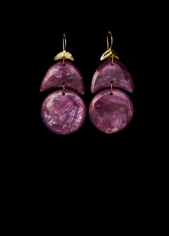 Small Arp Ruby Earring