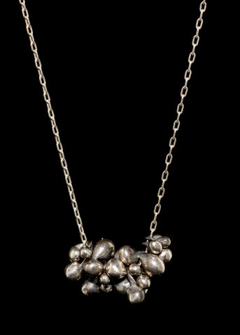 Molten Bead Cluster Necklace