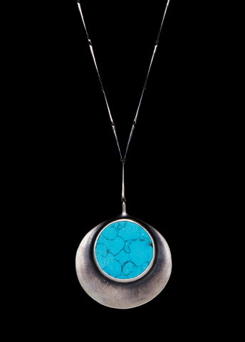 Turquoise Tapered Link Pendant