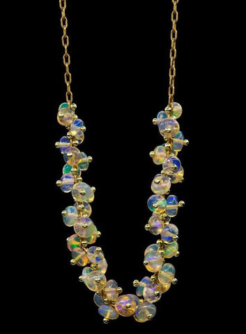 long beaded center spiral necklace