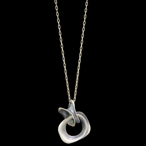double snakebone pendant necklace