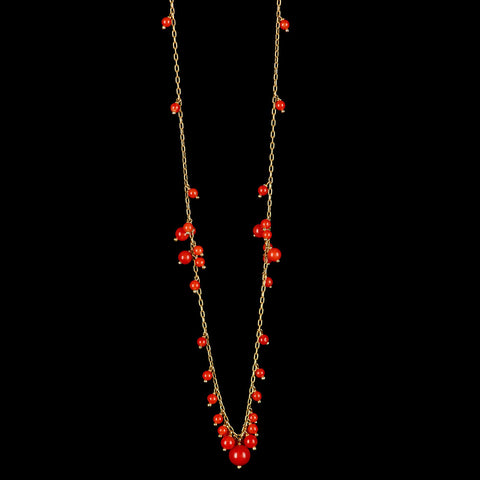 multi cluster necklace