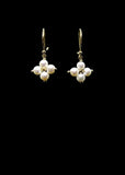Original Small Cross Pearl Earring