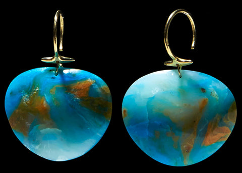 Pariaba Opal Turtle Shell Earring