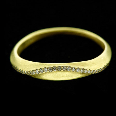 wave pave diamond ring