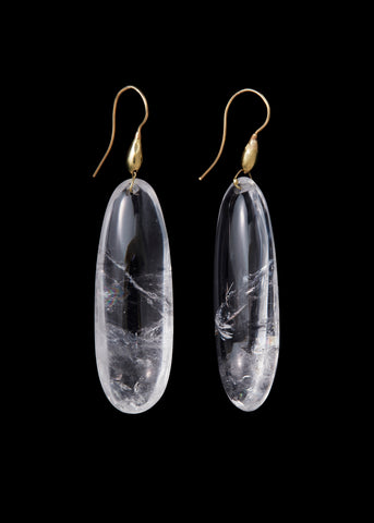 Rock Crystal Small Totem  Earring