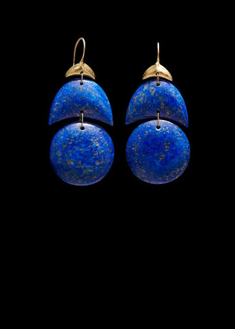 Small Arp Lapis Earring