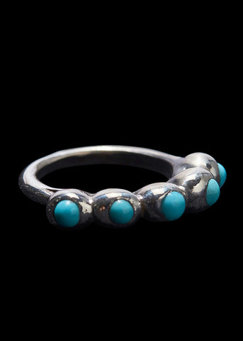 Small Peony Turquoise Ring