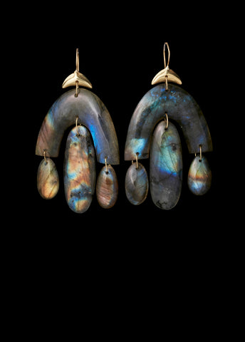 Labradorite Small Chandelier Earring