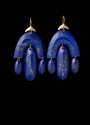 Lapis Small Chandelier Earring