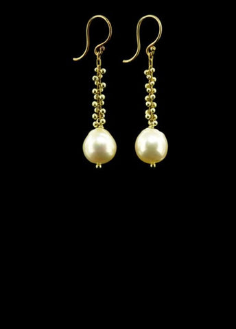 Signature Beaded Pearl Drop Earring