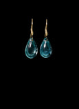 Small Aquamarine Teardrop Earring