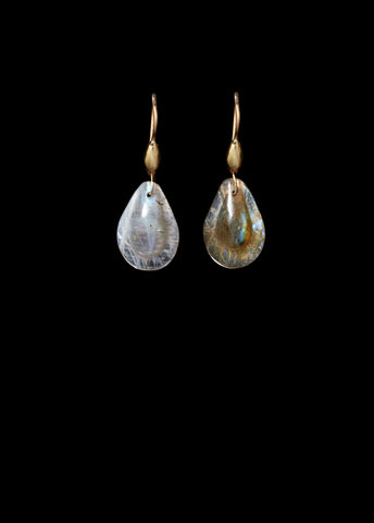 Small Labradorite Teardrop Earring
