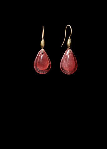 Small Rhodocrosite Teardrop Earring