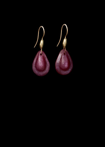 Small Teardrop Natural Ruby Earring