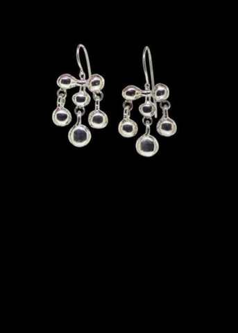 Sterling Silver Edwardian Earrings