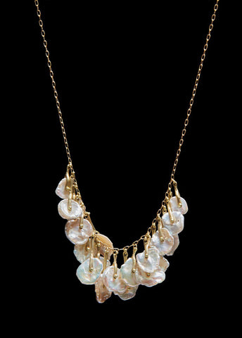 Stirrup Hold Waterfall Cluster Necklace