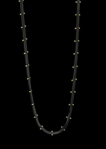 Studded Woven Chain Necklace