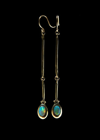 Double Cast Line Pendant Earring