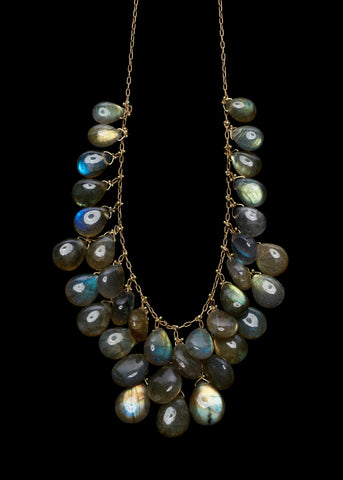 Briolette Waterfall Necklace