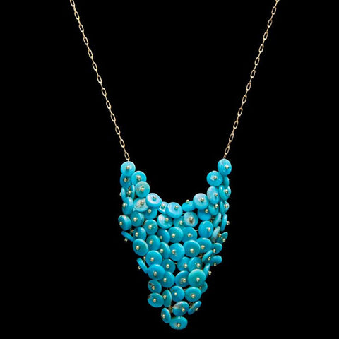 Turquoise Beaded Bib Necklace