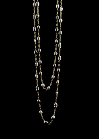 Tahitian Keshi Pearl Long Necklace