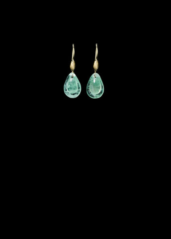 Tiny Emerald Teardrop Earring