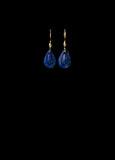 Tiny Lapis Teardrop Earring